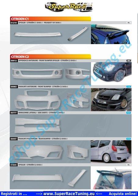 Catalogo PDF Accessori AUTO AEROKIT ... - SUPERRACE