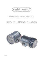 Subtronic Manual Flächen LED Leuchte - Marlin