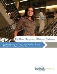LANDesk® Management Gateway Appliance - Orbital Integrated ...