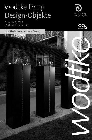 Preisliste wodtke living Design-Objekte 7/2012 gültig