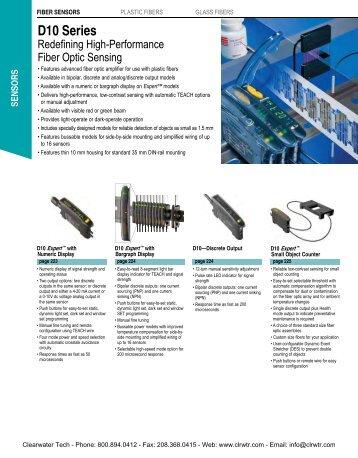 Banner Fiber Optic Sensors Catalog