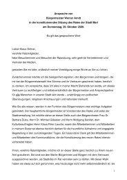 1 Ansprache von Bürgermeister Werner Arndt in der ... - Marl