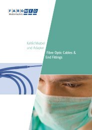 Kaltlichtkabel und Adapter Fibre Optic Cables & End Fittings