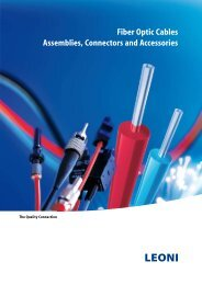 Fiber Optic Cables – Assemblies, Connectors and Accessories