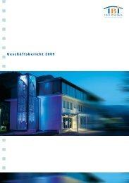 Geschäftsbericht 2009 - Industrielle Betriebe Interlaken