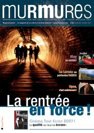 Cinéma Tout Ecran 2007 ! - Murmures Magazine
