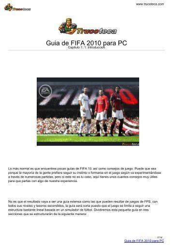 Guia de FIFA 2010 para PC - Trucoteca.com