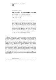 Ethos « bul faale - Politique Africaine