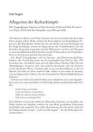 Allegorien der Kulturkämpfe Die Doppelgänger ... - montage AV