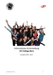 Anmeldung Schuljahr 2010 - 2011 - ICF Bern