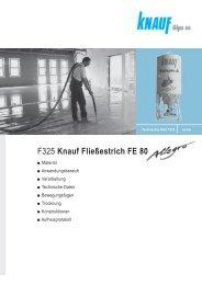 F325 Knauf Fließestrich FE 80 - Knauf Gips KG