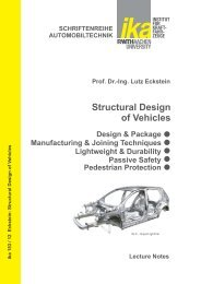 Structural Design of Vehicles - ika - RWTH Aachen University