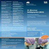 25. Münchner Gefäßgespräch (MGG) - Klinik für Gefäßchirurgie - TUM