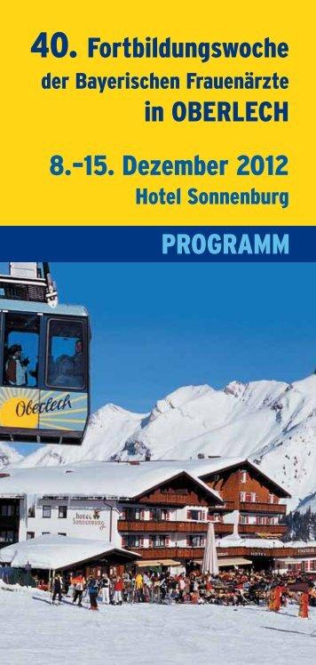 Programm - Fortbildungswoche Oberlech in Lech/Arlberg