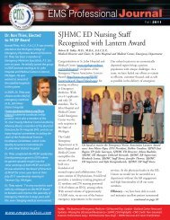EMS ProfessionalJournal - Emergency Medicine Specialists, PC