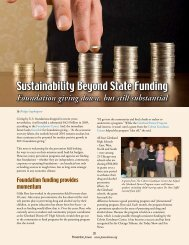 Sustainability Beyond State Funding - Prevention First