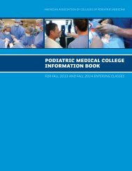 podiatric Medical college information book - American Association of ...