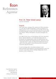 Prof. Dr. Peter Scholl-Latour - Econ Referenten-Agentur