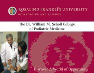 Rosalind franklin university - American Association of Colleges of ...