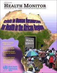 African Health Monitor Crisis in Human Resources for