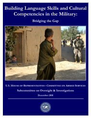 Building Language Skills and Cultural Competencies in the Military: