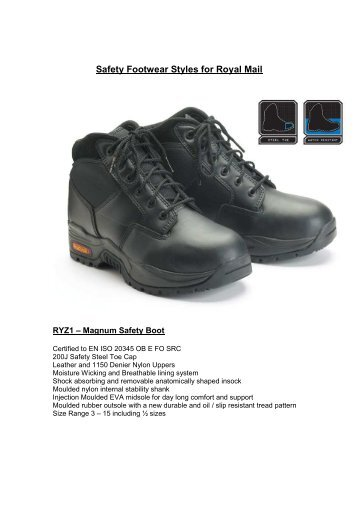 Safety Footwear Styles for Royal Mail - myroyalmail