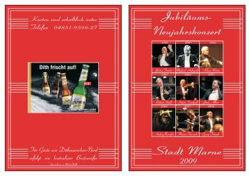 Flyer Konzert 2009