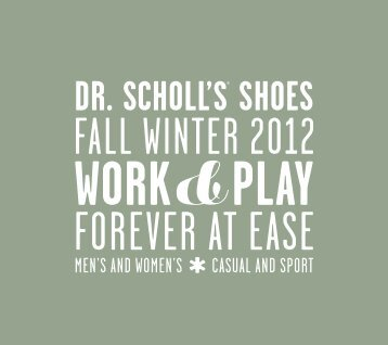 Dr. Scholl's Shoes Fall Winter 2012