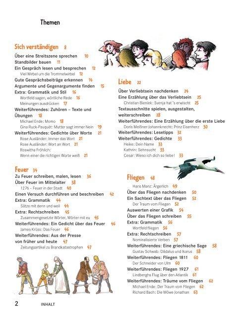 Themen Feuer 34 Liebe 22 Sich Verständigen 8 Fliegen 48