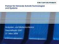 2007 - Meyer Burger Technology AG