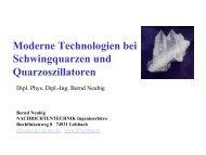 Moderne Technologien bei Schwingquarzen und ... - AXTAL