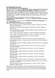 VHS MARPINGEN informiert Das zweite Semester 2012 hat ...
