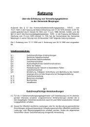 Verwaltungsgebührensatzung - Gemeinde Marpingen