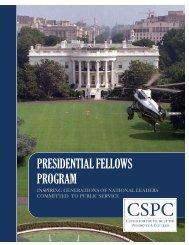 presidential fellows program - Center for the Study of the Presidency