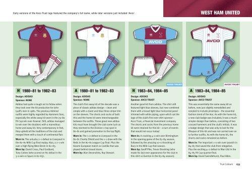 WEST HAM UNITED - True Colours Football Kits c51e5fde2