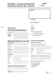 Gaststätten - Anzeige vorübergehender Gaststättenbetrieb (§ 3 Abs ...