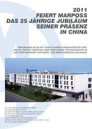 2011 feiert marposs das 25 jährige jubiläum seiner präsenz in china