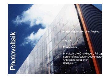 Vorlesung Photovoltaik - Unics.uni-hannover.de