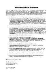 Verkehrsrechtliche Anordnung - Gemeinde Marpingen