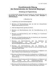 Konstituierende Sitzung des Gemeinderates der Gemeinde Marpingen