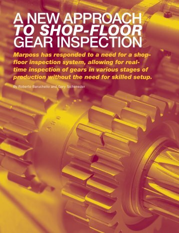 A NEW APPROACH to Shop-Floor GEAR ... - Gear Solutions