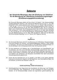 Entwässerungsgebührensatzung 2001 - Gemeinde Marpingen
