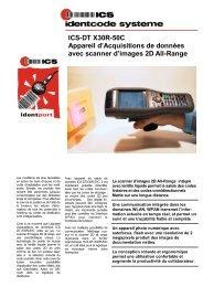 ICS-DTX30-50C Appareil mobile de saisie de données avec scanner