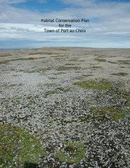 Habitat Conservation Plan for the Town of Port au Choix - Limestone ...