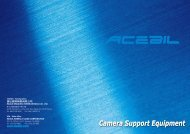 Catalogue - ACEBIL Camera Support Equipment