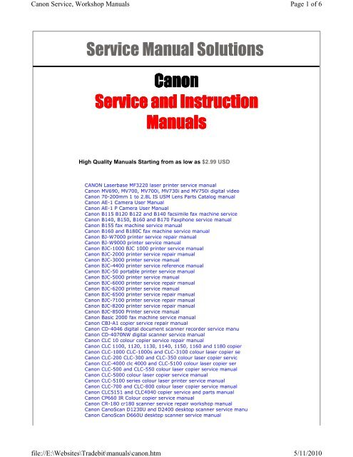 Canon lbp 2900 service manual pdf free.