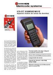 ICS-DT 930M50E/M51E Appareil mobile de saisie de données