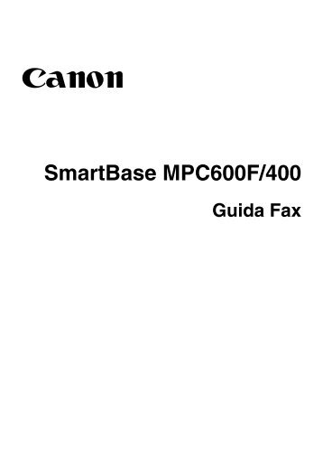 SmartBase MPC600F/400 - Canon Download Centre - Canon Italia