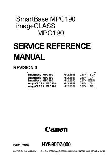 SERVICE REFERENCE MANUAL - Piezas y Partes