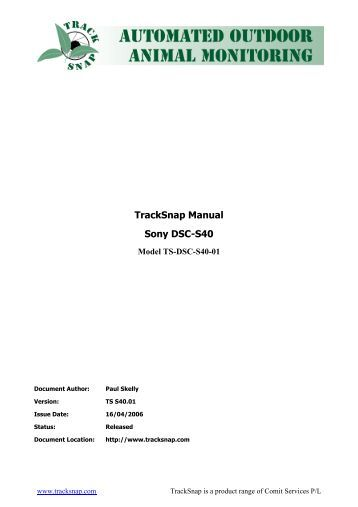 TrackSnap S40 User Manual
